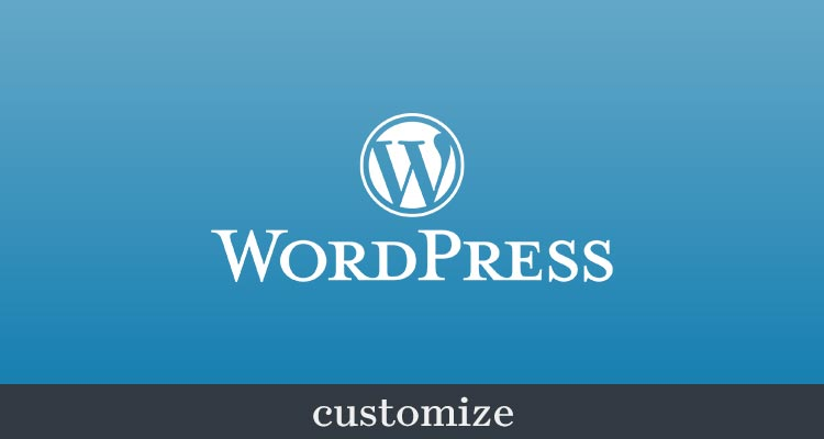 wordpress customize